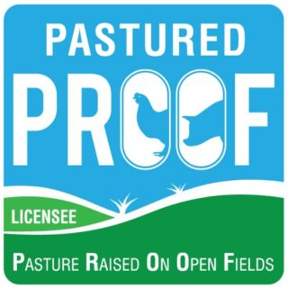 PROOF Pasture Raised on open fields licensee RGB